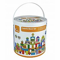 100-Piece Colorful Block Set